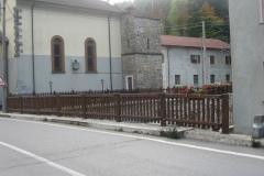 Parapetto legno e acciaio, Anzola (PR)