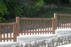 Parapetto legno e acciaio, Baia Blu (SP)