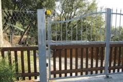 Cancello acciaio e legno, Lerici (SP)